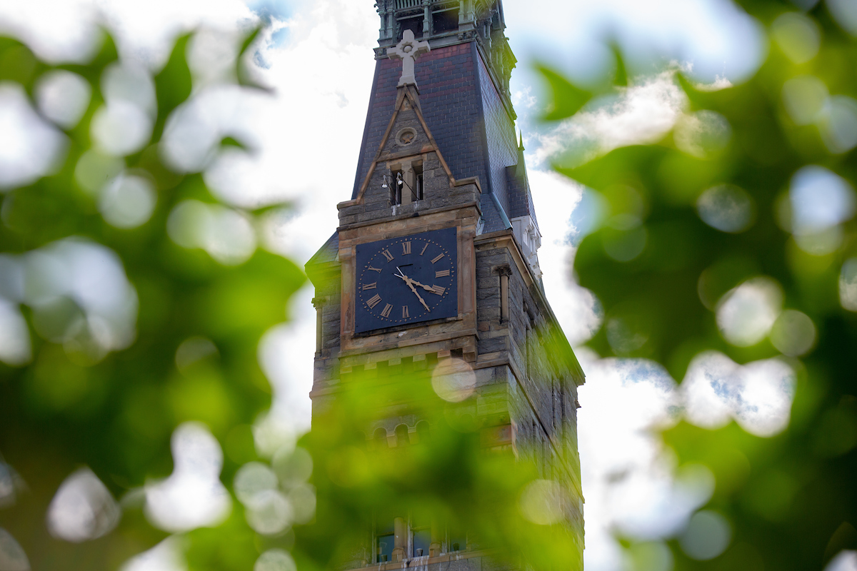 Healy Hall Clock tower